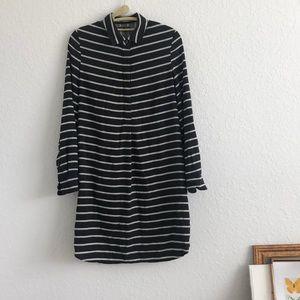 Madewell Black & White Striped Dress